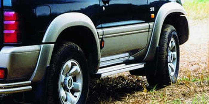 Offroad accessories ALU RUNNING BOARD STD