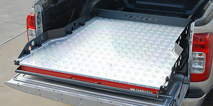 Offroad accessories SHAPED ALUMINIUM SLIDING TRAY CARRYBOYUNIVERSAL FOR D/CAB.