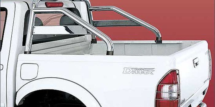 accessori fuoristrada ROLL BAR INOX BRILL C/TRAVERSA D-MAX 03/07 e STEED D/CAB.