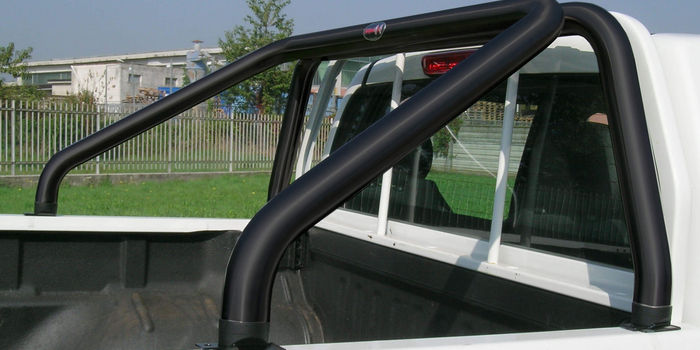 accessori fuoristrada ROLL BAR 60 INOX BLACK EXTRACAB E DOPPIA CABINA