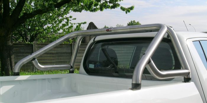 accessori fuoristrada ROLL BAR S2 60 INOX MAT C/TRAVERSA A TUBO (L200 97/02 IS 99 FO MZ 07/09 STEED D/C)