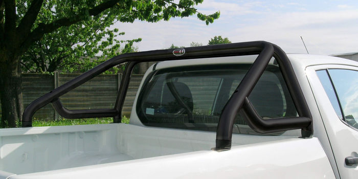 accessori fuoristrada ROLL BAR 60 INOX CON TRAVERSA BLACK EXTRACAB E DOPPIA CABINA