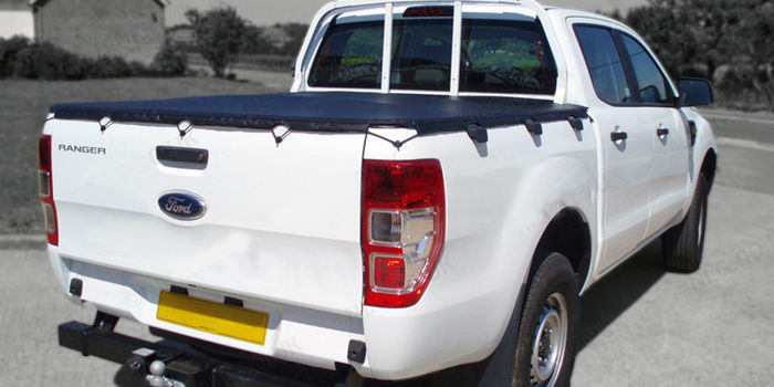 Offroad accessories BLACK HOOKED SOFT LID 4 DOORS D/CAB  (ok with ladder rack)