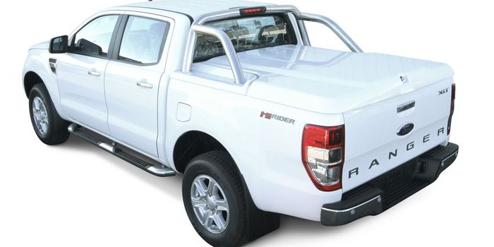 Offroad accessories ABS WHITE SPORT LID PAINTABLE, MOUNTABLE WITH ORIGINAL ROLL BAR DOUBLE CAB (Roll bar excluded)
