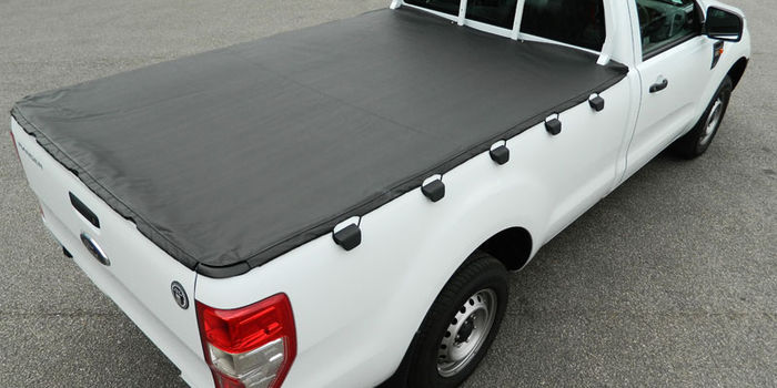 Offroad accessories BLACK HOOKED SOFT LID SINGLE-CAB  (ok with ladder rack)