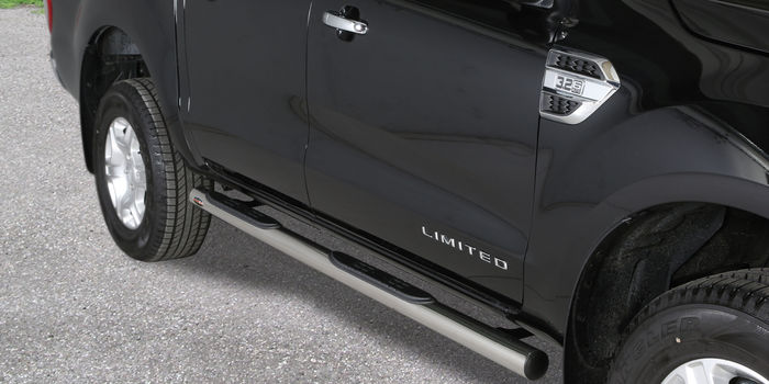Offroad accessories SIDE STEP STAINLESS STEEL SHINY D.70 DOUBLE CAB